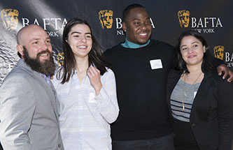 <p>BAFTA scholarhip winners (from left) Jeremy Norris, Salomeya Lomidze, Lamont Baldwin, and Amina Ebada.</p>