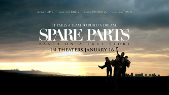 <p>Based on true events, <em>Spare Parts</em> (Lionsgate) is a story about the triumph of the human spirit.</p>