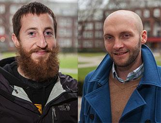 <p>Fulbright students Daniel Friedman and Chris Martin</p>