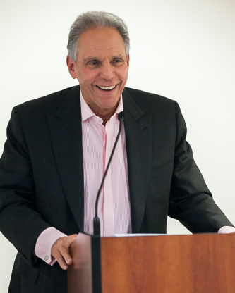 <p>Martin D. Sass talks to potential students of the M.D. Sass Investment Academy.</p>