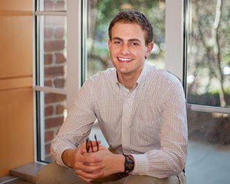 <p>Junior Jacob Levin, the third Brooklyn College student to be named a Harry S. Truman Scholar.</p>