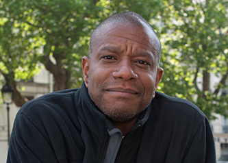 <p>Paul Beatty '89 M.F.A., 2016 National Book Critics Circle Award winner. <em>Credit</em>: Hannah Assouline</p>