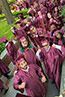 <p>Ready to celebrate, our baccalaureate graduates prepare to march in the 2016 Commencement Exercises. </p>
