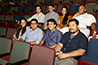 <p>Excited to have their films up on the big screen at BAM, eight of the ten students whose films were recognized as the faculty's select choices. Top row, left to right: Dylan Kaplowitz, Edgar M&eacute;ndez, Ivana Bernal, Joseph Singletary; bottom row, left to right: Rhiannon Collins, David Merino, J.P. Pacca, Daniel Finley.</p>