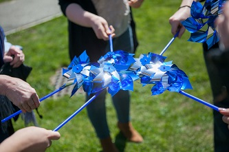 <p>Pinwheels were selected as symbols of innocence to represent childhood and raise awareness during National Child Abuse Prevention Month. </p>
