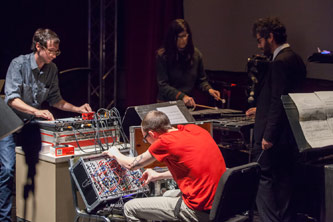 The Matthew Gantt Group performs at the International Electroacoustic Music Festival.