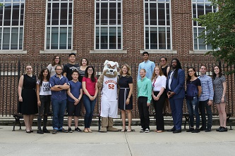 <p>President Michelle J. Anderson and Buster the Brooklyn College Bulldog are pleased to welcome the members of the fall 2016 incoming class. </p>