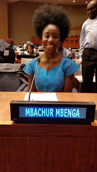 <p>Senior Mbachur Mbenga was honored to be selected to speak at a special United Nations convention celebrating Women's Entrepreneurship Day.  </p>
