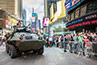 <p>In her book <em>Homeland</em> (Trolley Books, 2008), photographer Nina Berman examines the militarization of American life after September 11. This photo shows a military tank in Times Square.</p>