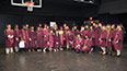 <p>Preparing to preside over her first Brooklyn College commencement ceremony, President Michelle J. Anderson congratulates members of the Class of 2017.</p>