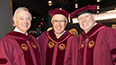 <p>Brooklyn College Foundation trustees and Brooklyn College alumni (left to right) Donald Kramer '58, Bernie Garil '62, and Don Buchwald '59 are pleased to celebrate the achievements of the Class of 2017.</p>