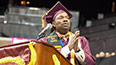 <p>'I realized that I am not confined to my history, and that my perceived limitations are actually my greatest strengths.' - Valedictorian Kevin LaMonte Jones</p>