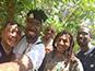 <p>BLMI members pose with University of West Indies' K'adamawe K'nife.</p>
