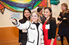 <p>Mayor Cruz Soto takes a selfie with Ester Rivera (left) and Erika Niwa in the Christoph Kimmich Reading Room, Brooklyn College Library.</p>