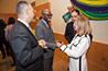 <p>Professor Jean Eddy Saint Paul, director of the CUNY Haitian Studies Institute at Brooklyn College, welcomes Mayor Cruz Soto.</p>