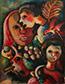 <p>Emmanuel Merisier. <em>Faces</em>, undated. Acrylic on canvas, 18 x 14 inches</p>