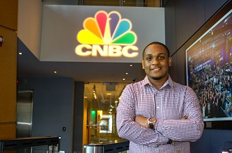 <p>Ryan Beckford '17 said that the Magner Career Center was crucial in helping him hit the ground running on his post-graduation career track. </p>