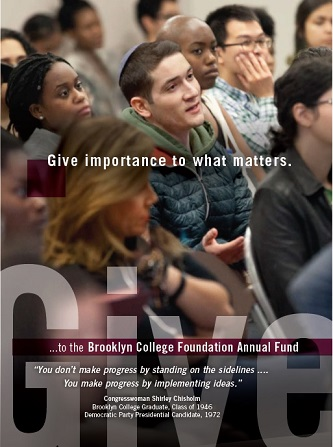 <p>The Brooklyn College Foundation's Annual Fund is hoping to unite the Brooklyn College community in an effort to surpass last year's #GivingTuesday fundraising total. </p>