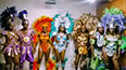 <p>Labor Day Parade participants dressed in creations by Deborah Alves and her daughter Abigail. </p>