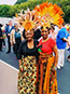 <p>Former New York City Council Representative Una S. T. Clarke (left) with her daughter U.S. Representative Yvette Clarke (NY-D), representing the Ninth Congressional District located in Brooklyn. Both wear costumes by Deborah Alves.</p>