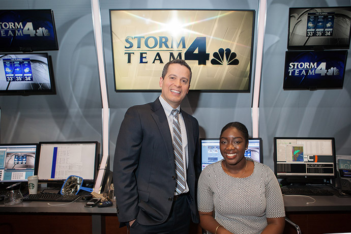 <p>Earth and environmental sciences senior Hope Osemwenkhae was able to receive crucial mentorship from Miranda and a prestigious internship at WNBC thanks to the Magner Career Center.</p>