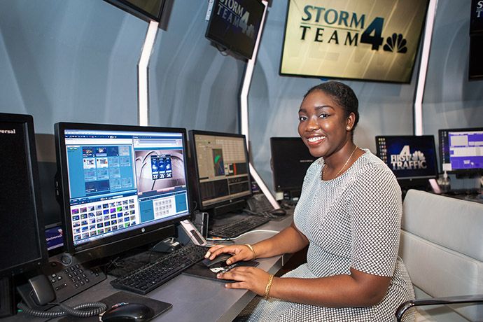 <p>Osemwenkhae's goal is to become a WNBC meteorologist after she graduates this May.</p>
