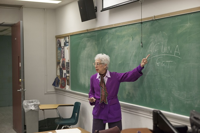 <p>In her course, 'The Jewish Woman,' Reguer examines Judaism and Jewish womanhood from a feminist perspective. 'Aguna' is Hebrew for 'anchored,' describing a Jewish woman's status in marriage. 'Get' is a Jewish divorce document.</p>