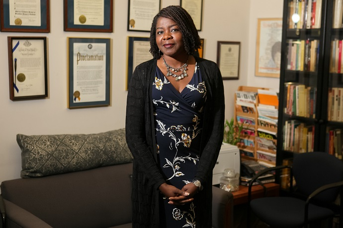 <p>The 2018–2019 Endowed Chair of Women's and Gender Studies Robyn C. Spencer. Photo by David Rozenblyum '07.</p>