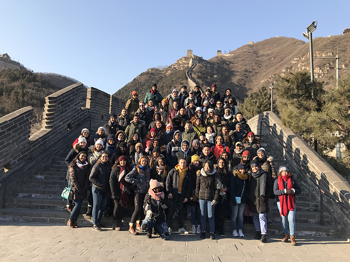 <p>Sixty-eight students from Brooklyn College, other CUNY campuses, and beyond visit The Great Wall of China during their winter intersession trip. </p>