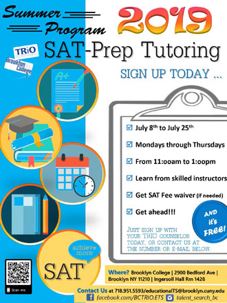 <p>Poster for SAT Tutoring! </p>