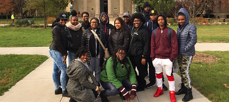 TRiO students attend a Bronx Community College tour.