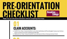 Pre-Orientation Checklist