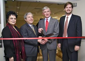 Dean Morales, Borough President Markowitz, BC President Kimmich, Ryan Buck