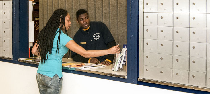 Check in your personal belongings at the Information Desk.