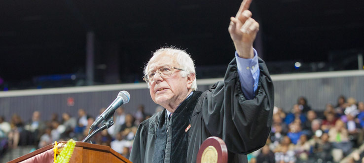 <p>U.S. Senator for Vermont spoke to the Brooklyn College Class of 2017 about the necessity for active political engagement.</p>