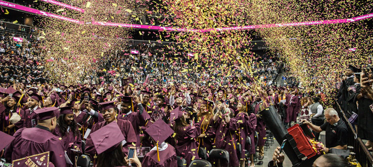 1<p>The 2017 Brooklyn College Commencement at Barclays Center</p>