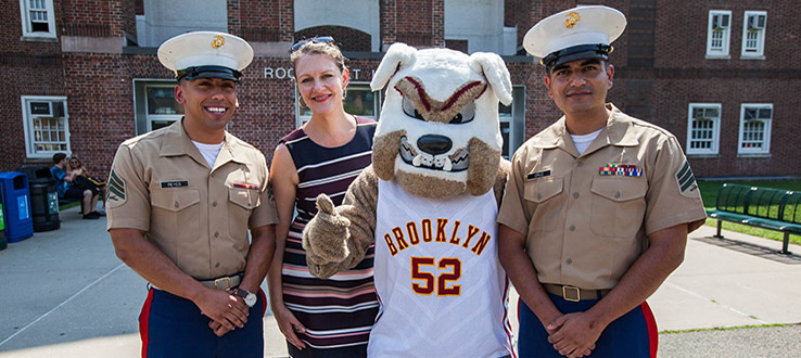 From our president to our mascot, military personnel and veterans receive a warm welcome on campus.