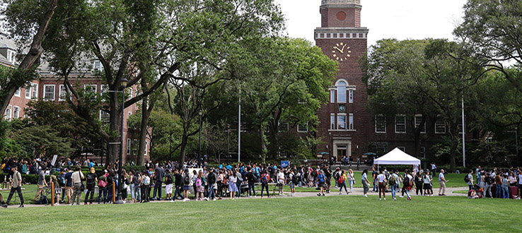 Students show up in big numbers for our campus events.