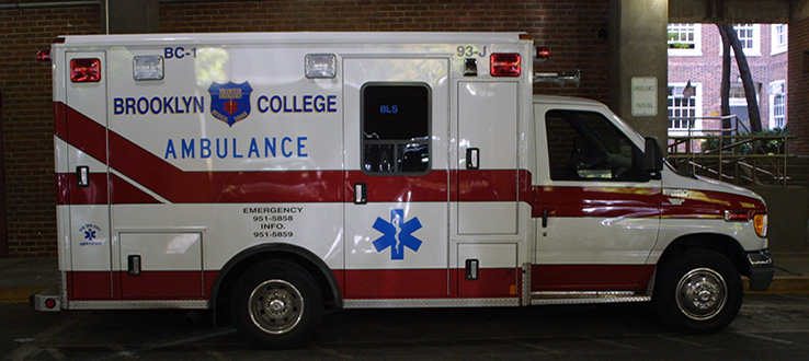 Our student-run Emergency Medical Squad responds to calls on campus in our own ambulance.