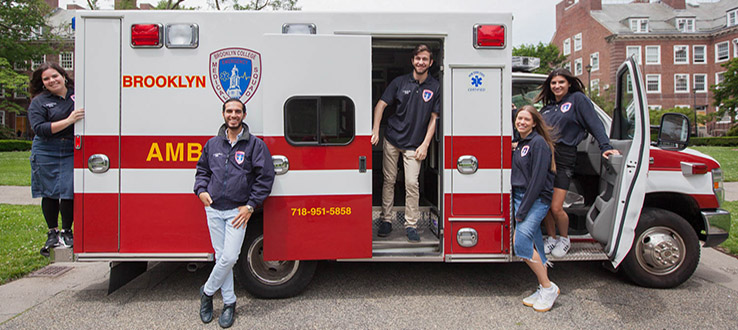 Trained student volunteers are on hand to assist in medical emergencies.