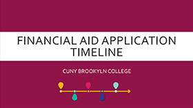 Financial Aid Application Timeline Presentation
