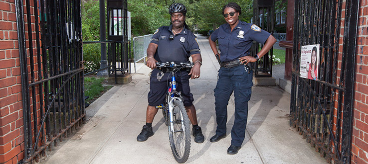 On bikes or on foot, our officers are ready to help you right away should a crime be committed.