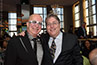 <p>Paul Shaffer and Vinnie Favale '82, vice president of CBS Late Night Programming.</p>