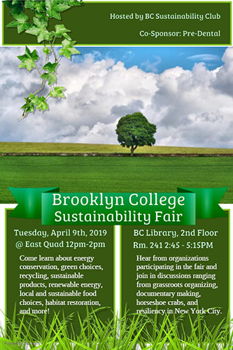 Poster for Sustainability Fair