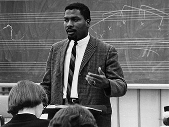 Olly Wilson teaching at Oberlin College, 1968