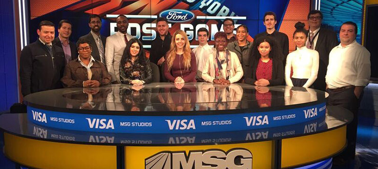 Learning from our alumni at MSG Networks about internship opportunities.